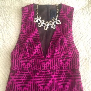 Anna Sui Pink Patterned Dress